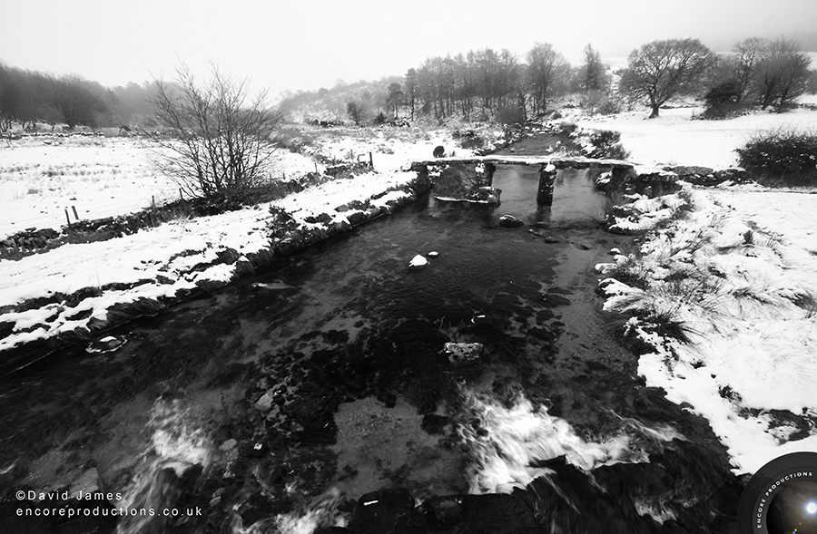 Snow at Postbridge, Dartmoor