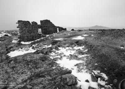 Snow at Foggintor Quarry, Dartmoor