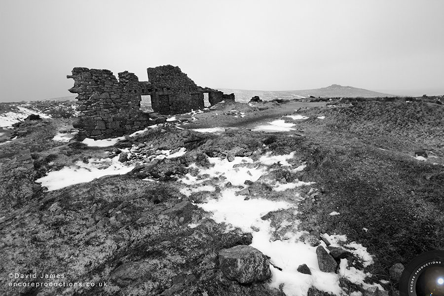 Snow at Foggintor Quarry, Dartmoor