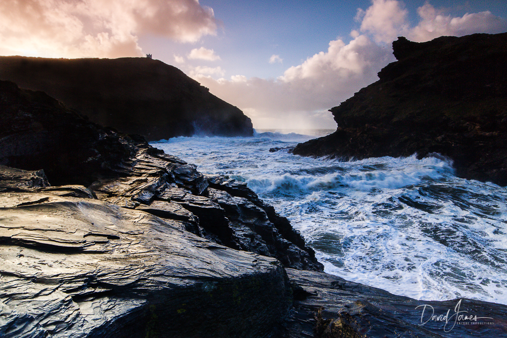 Stormy sea at Boscastle, Cornwall