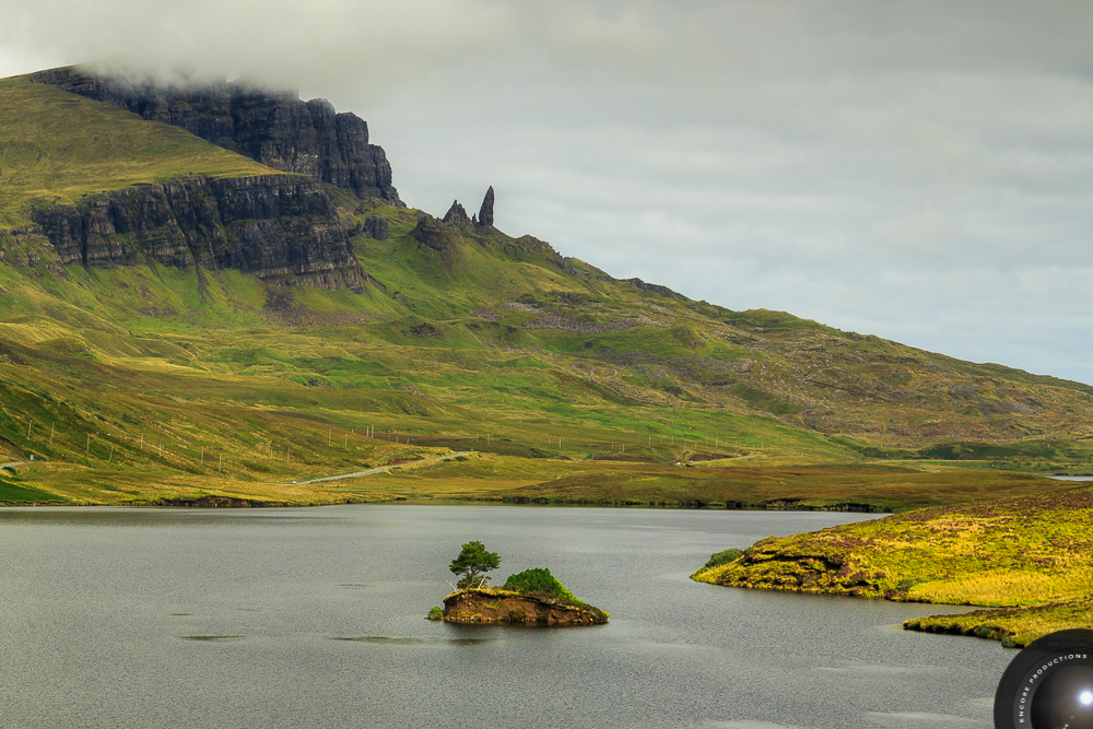 The Old Man of Storr and Loch Fada, Isle of Skye, Scotland
