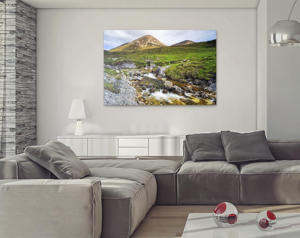 Torrin Waterfall and Beinn Dearg Mhor, Isle of Skye, Scotland