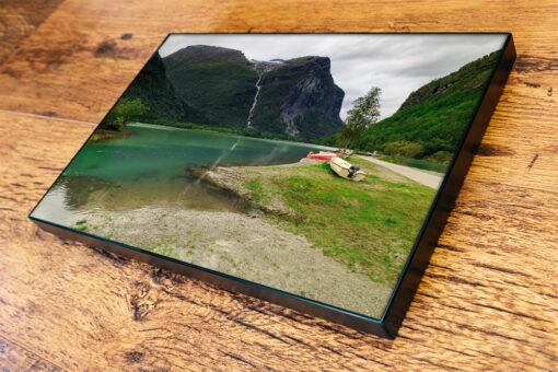 Mount Ramnefjell and Utigardsfossen Waterfall, Norway